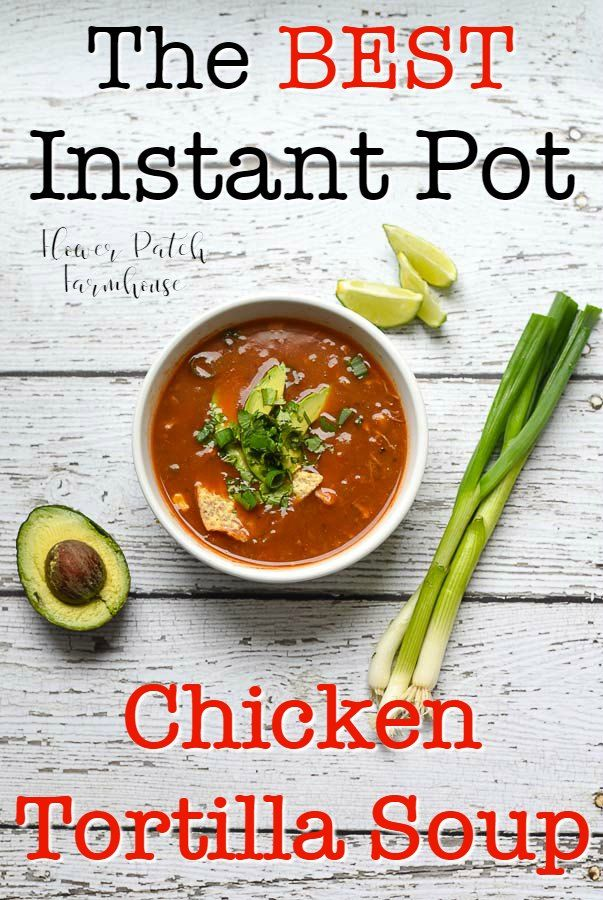 Best Instant Pot Chicken Tortilla Soup - Flower Patch Farmhouse #chickentortillasoup