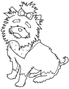 Funny Yorkshire Terrier with Bandana Coloring page ...