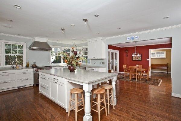 Huge kitchen with functional kitchen island - Kitchen Remodel by Brown Restoration #KansasCity