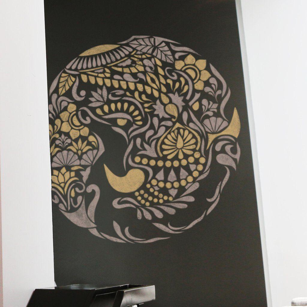 Indian Elephant Medallion Stencil - Medallion Stencil ...