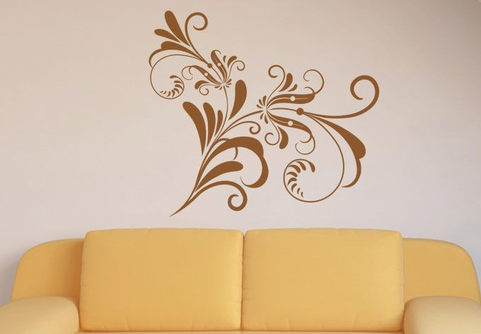 A Wonderfully Designed Floral Wall Decal Design. Style Your Space With  Stunning Vinyl Decals And Stickers.