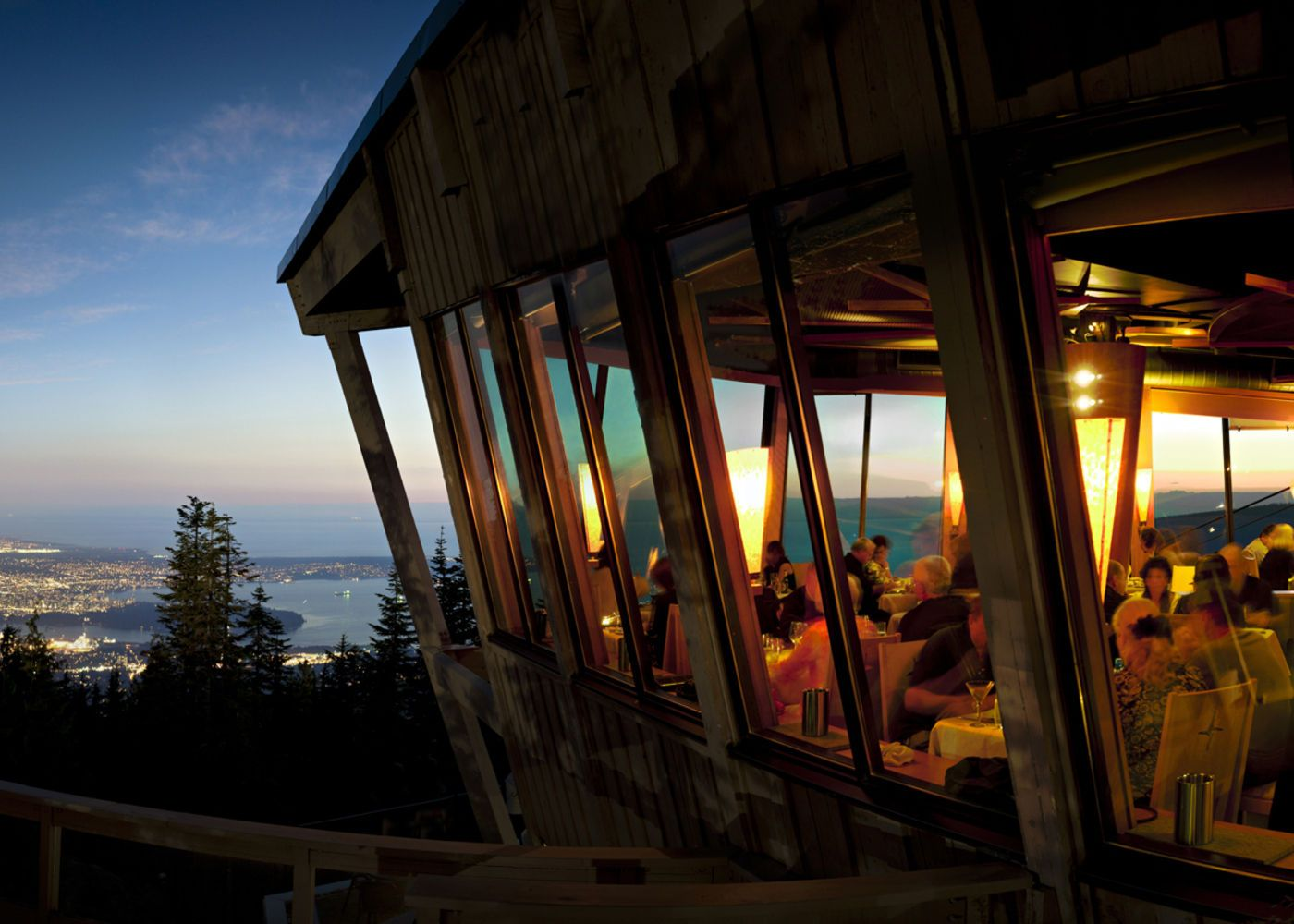 Grouse Mountain - The Peak of Vancouver. Outstanding views on the way up to the restaurant in the cable car and from every table at The Observatory. And the food is outstanding too.
