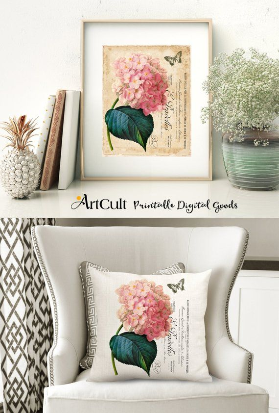 photo relating to Printable Fabric Paper identified as 2 Electronic Sheets HYDRANGEA Printable Visuals in direction of print upon