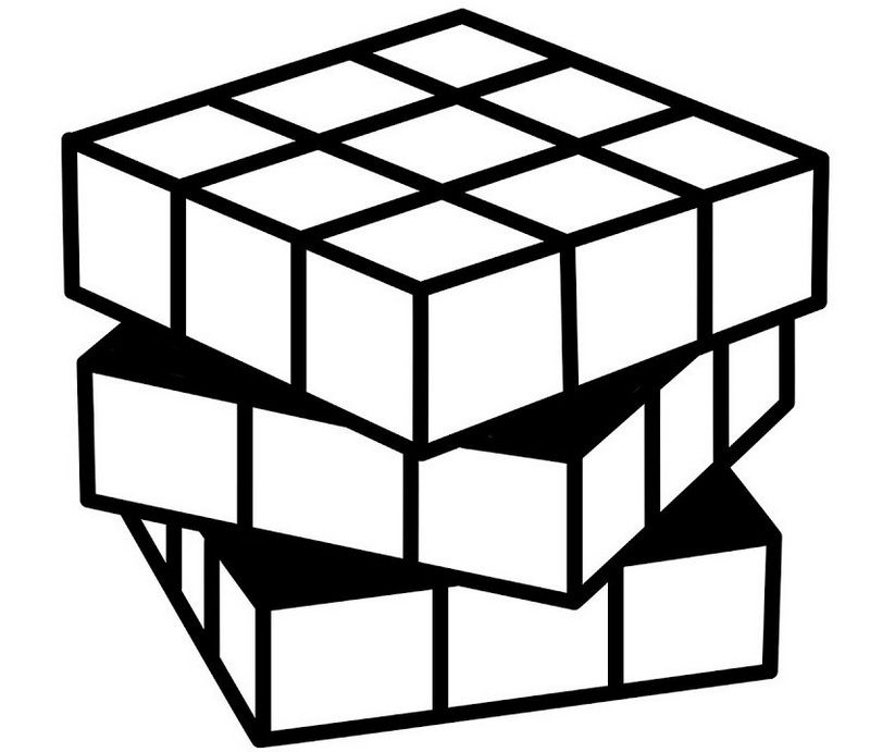 Best Rubiks Cube Coloring Page Rubiks Cube Rubicks Cube Cube
