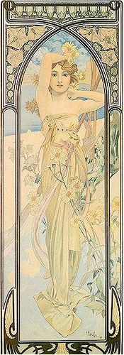 Mucha: love the borders especially here. Mucha  was masterful at what he created, fine art.