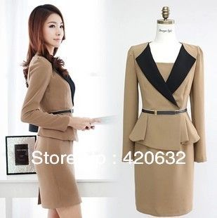 Free Shipping 2017 New Fashion Woolen Korean Dress Winter Autumn Women S Clothing Ol Suits With Belt