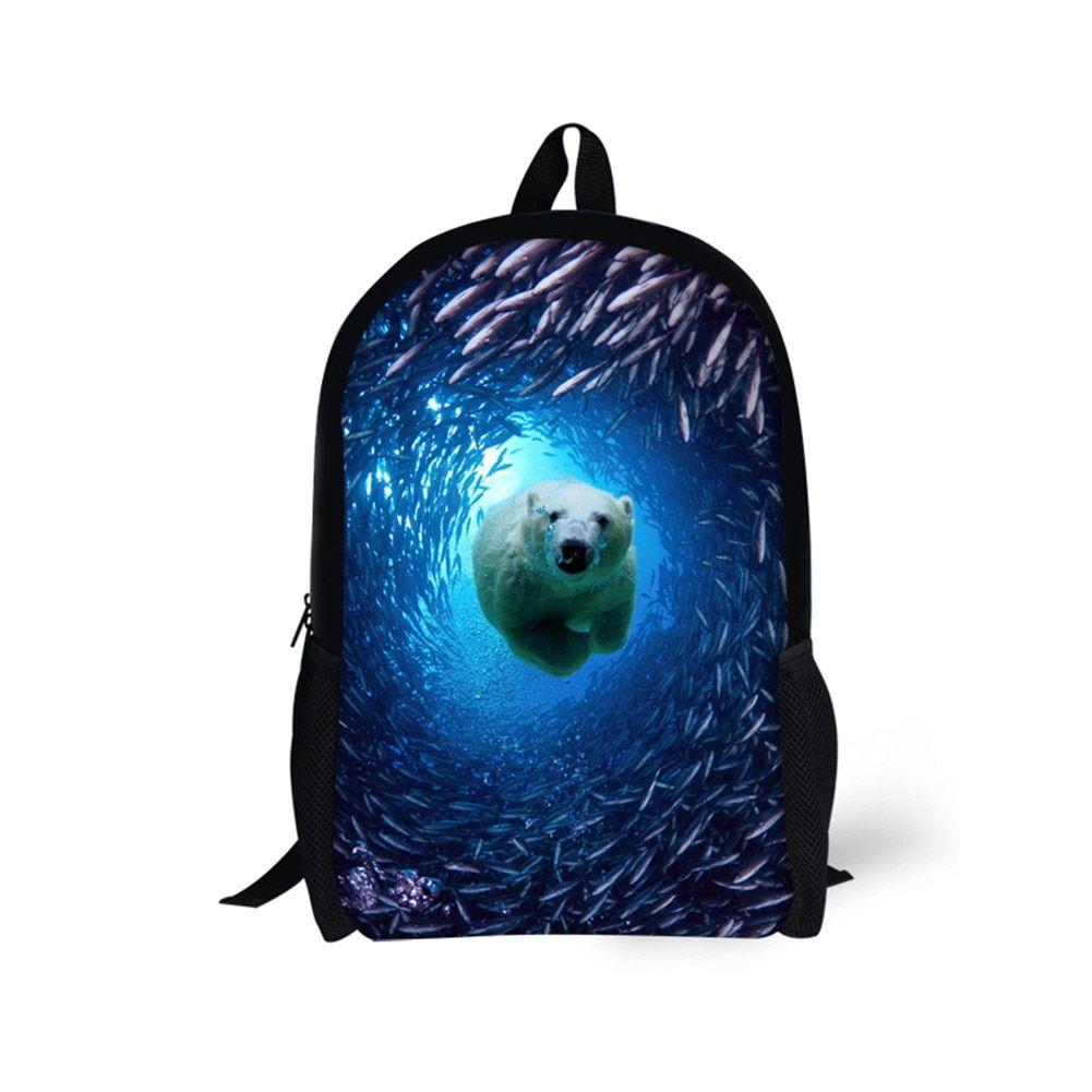 School Bookbags Teens Animal Personalized Backpack Bookbag
