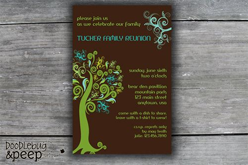 35 Family Reunion Invitation Templates Psd Vector Eps Png