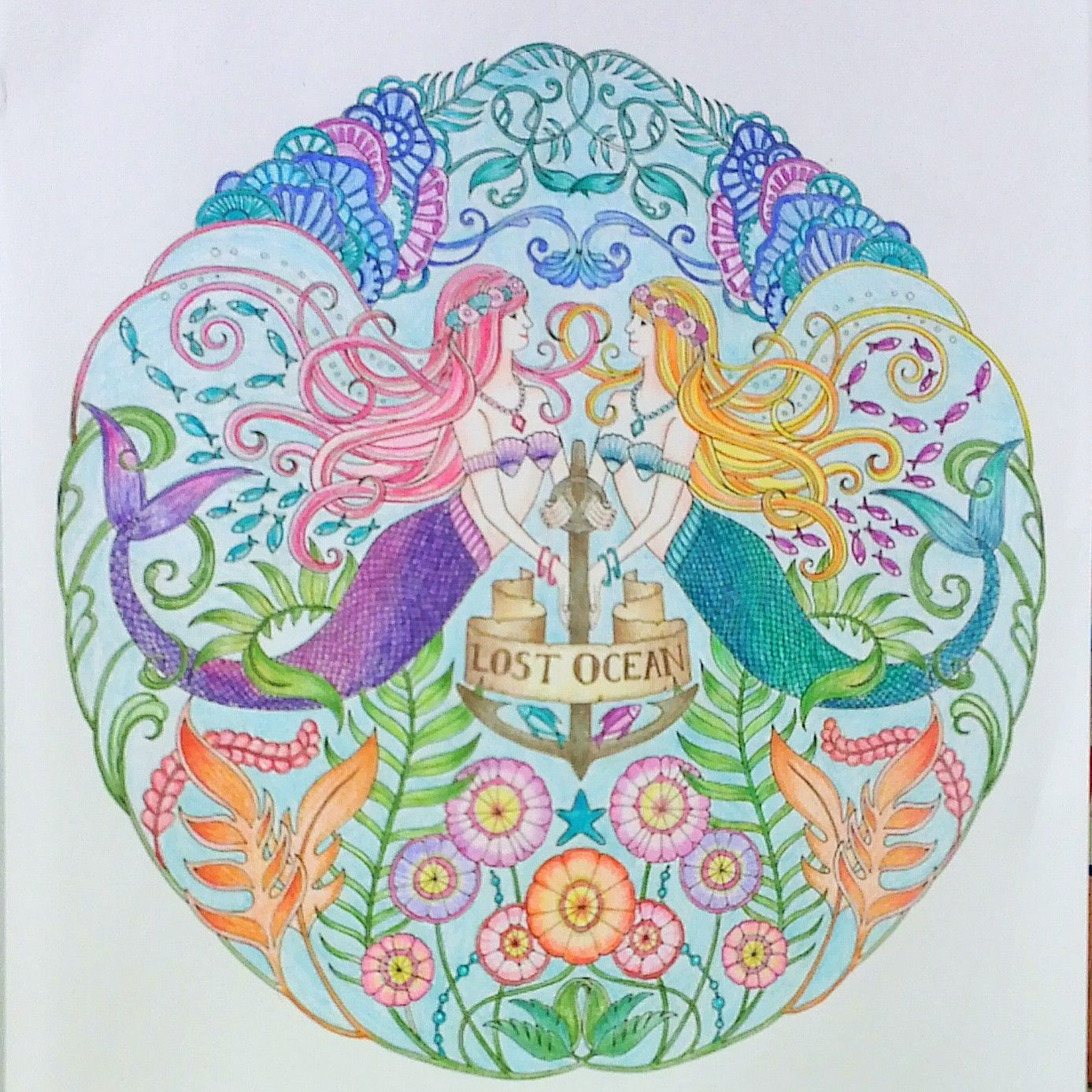 Zendoodle coloring enchanting gardens - Adult Coloring