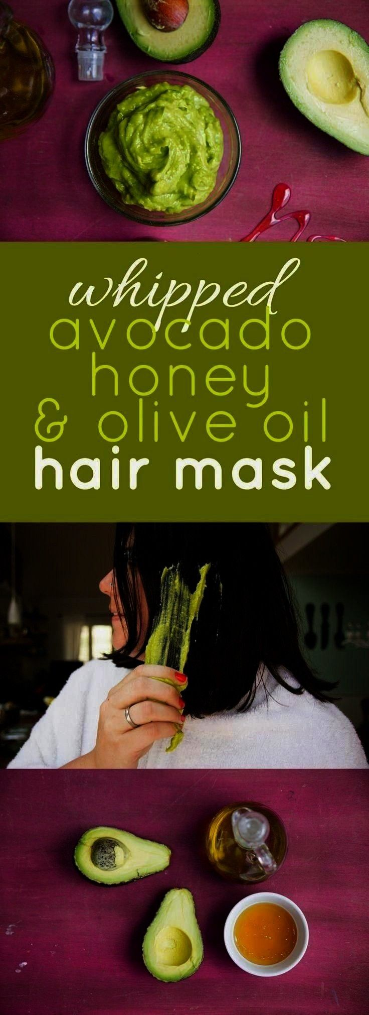 and Olive Oil Deep Conditioning Hair MaskWhipped Avocado, Honey, and Olive Oil Deep Conditioning Ha