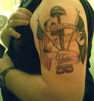 Brothers in arms tattoos of honor pinterest tattoo for Tattoo for dead brother