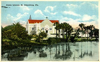 Library Postcards Public Library St Petersburg Florida St Petersburg Florida Petersburg Florida