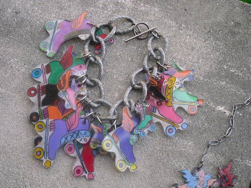 Roller Derby Inspired Shrinky Dink Jewelry - JEWELRY AND TRINKETS