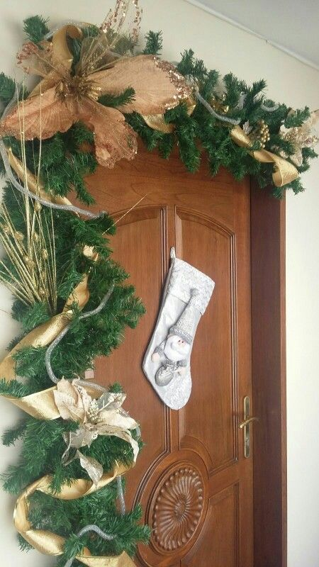 Decoracion navide a para puertas guirnalda navidad for Guirnaldas para puertas navidenas