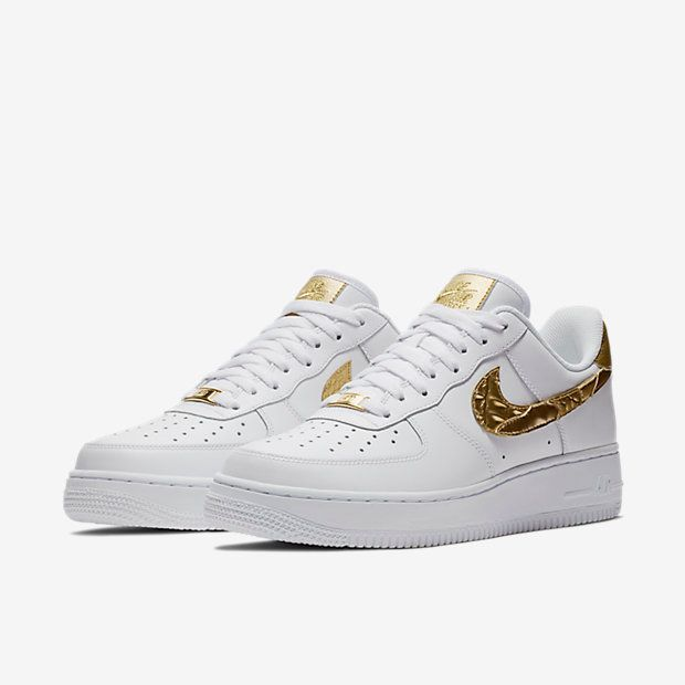 "Nike Air Force 1 Low CR7 ""Golden Patchwork"" (White Gold)"