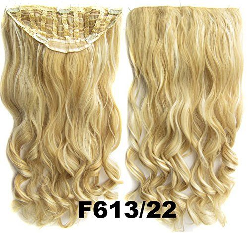Angelaicos Womens 22' Long Wavy Curly Party Nightclub Fashion Hairpiece Hair Extension Ponytail 1/2 Half Wig Black Brown Blonde (F613-22) * Insider's special review you can't miss. Read more  : Hair Loss