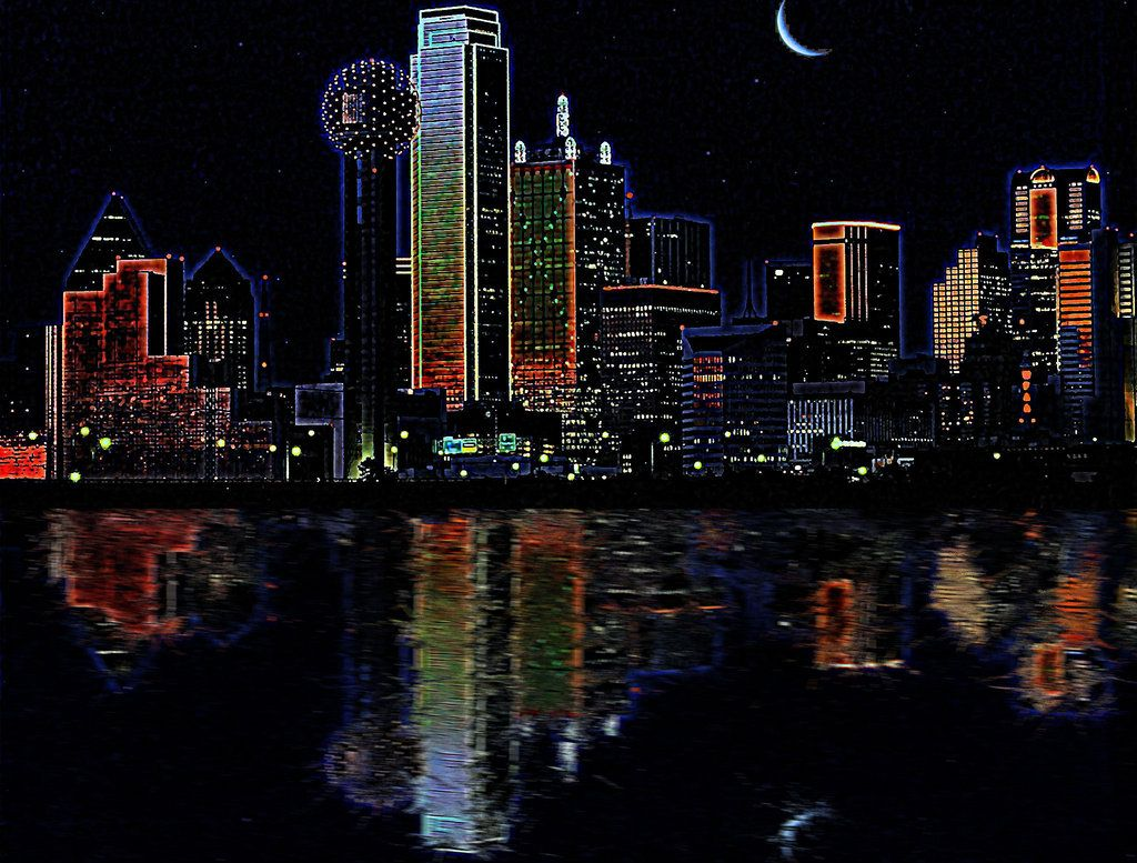 62378a20fae Dallas skyline at night