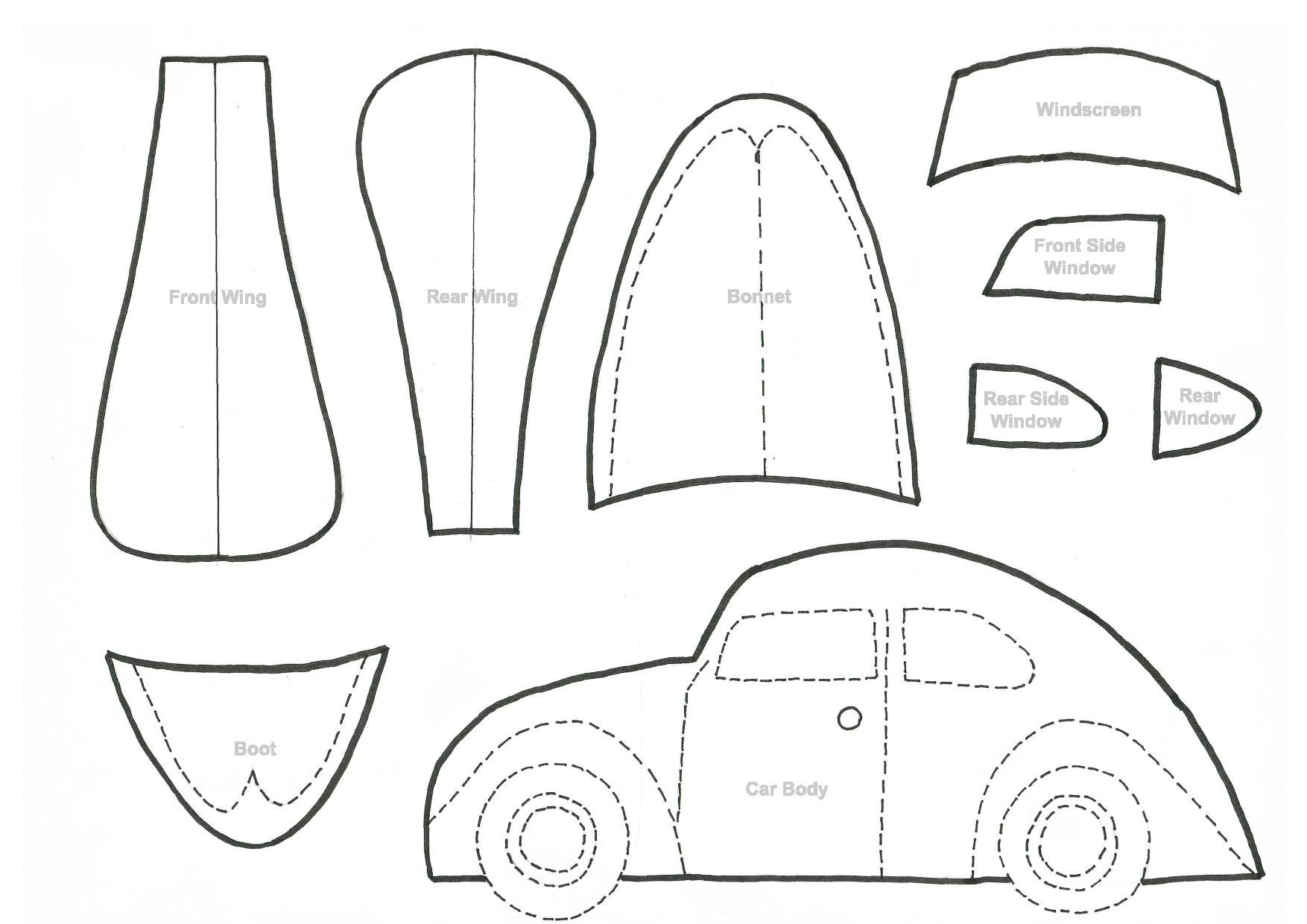 how to draw a vw beetle