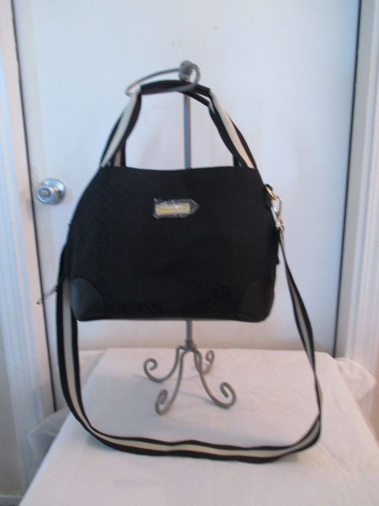 b8e8efe79df Tommy Hilfiger Black Handbag Purse Authentic Brand New Tags Shopper 6937304  990 #TommyHilfiger #Shopper