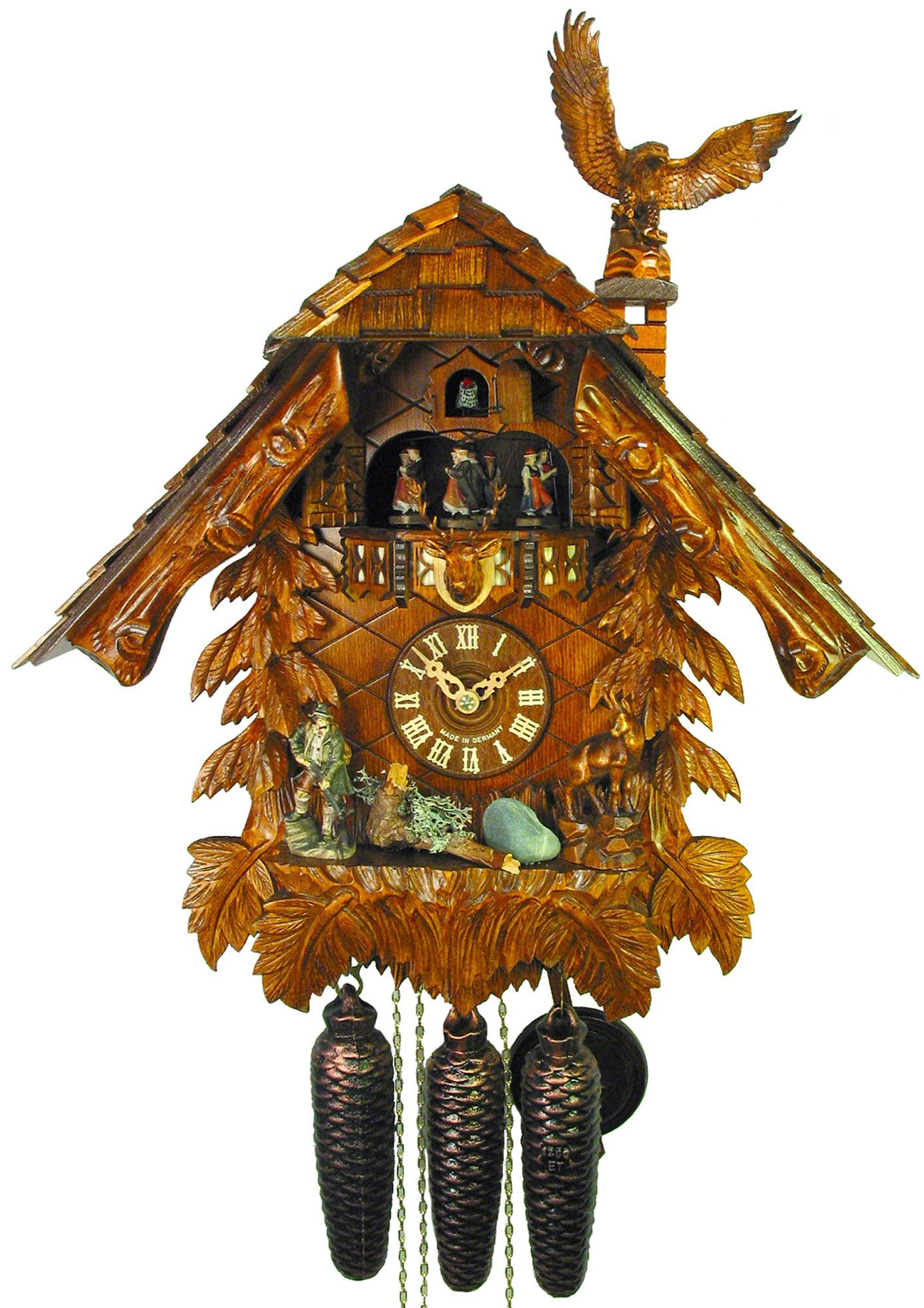 Cuckoo Clock 8 Day Movement Chalet Style 50cm By August Schwer 5 0471 01 C Clock Antique Wall Clocks Classic Clocks