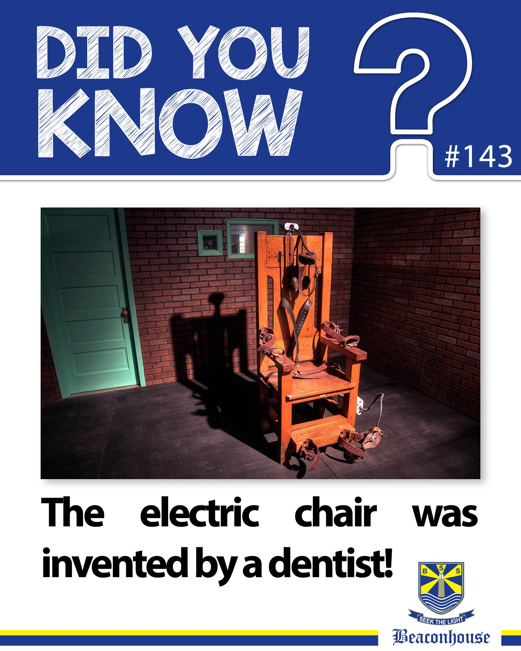 DidYouKnow The electric chair was invented by a dentist