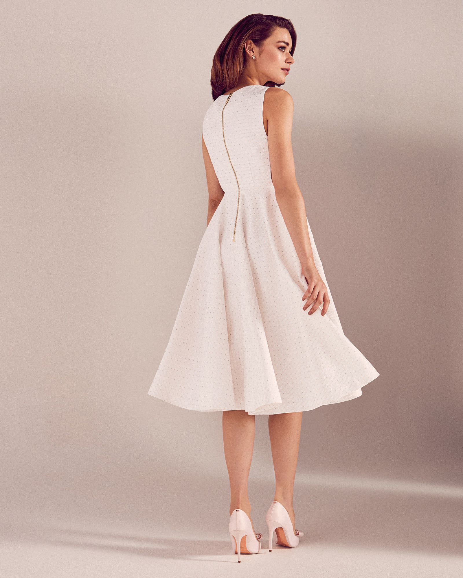 21d0cca7e97 Daisy jacquard cut-out midi dress - White | Dresses | Ted Baker ...