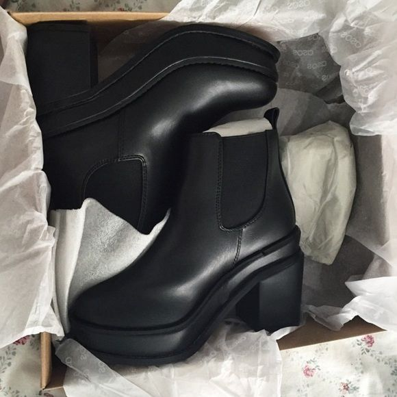 ASOS Black Boots In great condition... I only wore them a few times ☺️ ASOS Shoes