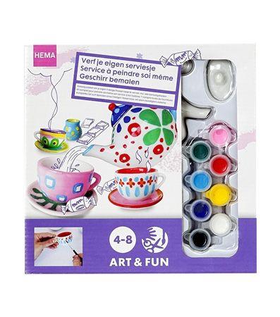 HEMA servies beschilderen voor kids :-)