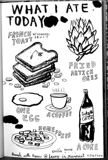 What I Ate Today Food Illustration Blog --love these sketches!
