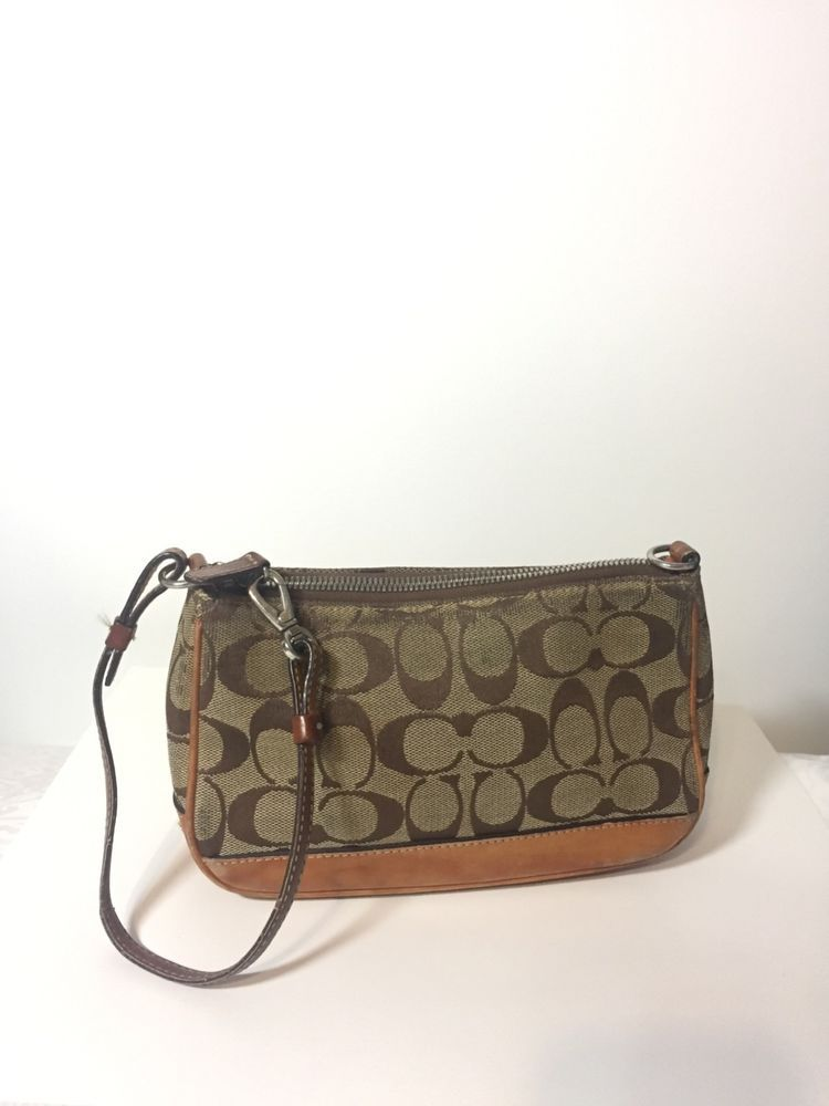 75f1bbe042 Vintage Coach Wristlet brown Small  fashion  clothing  shoes  accessories   womensbagshandbags (ebay link)