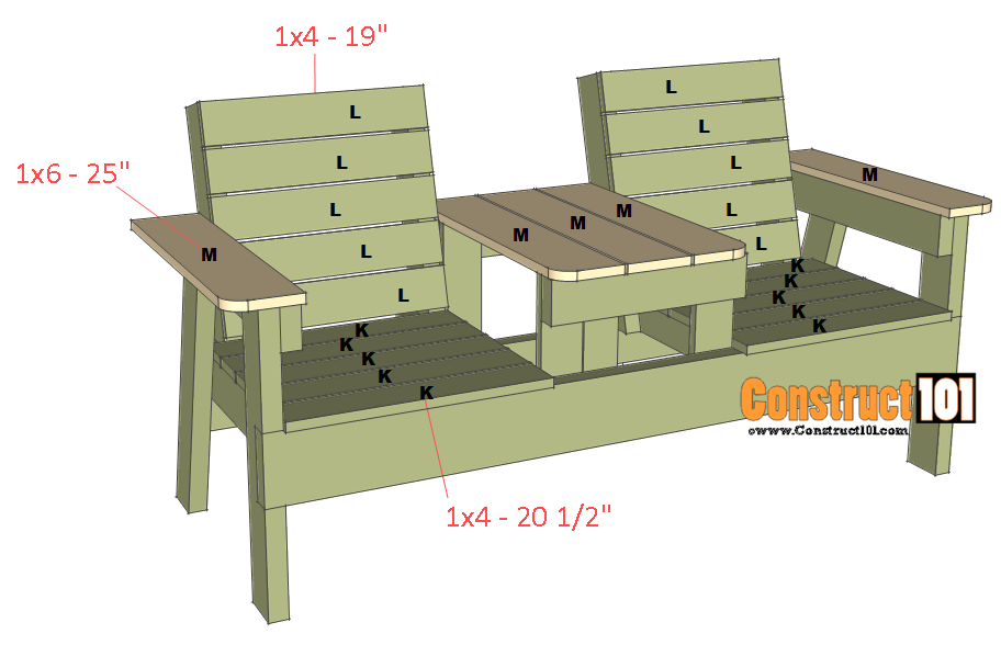 Brilliant Double Chair Bench Plans Step By Step Plans Chair Bench Creativecarmelina Interior Chair Design Creativecarmelinacom