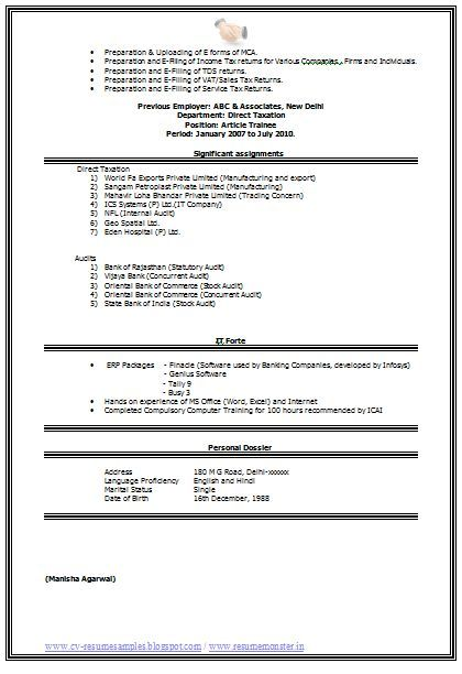 Pin By Yash Shah On Ca Accountant Resume Accountant Cv