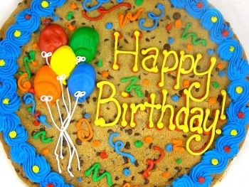 Awesome Happy Birthday Balloon Cookie Cake Kosher With Images Cookie Personalised Birthday Cards Veneteletsinfo