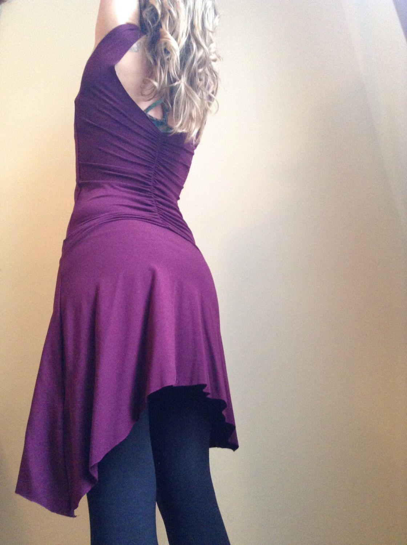 Organic aubergine slip dress made to order by velvetplume on etsy