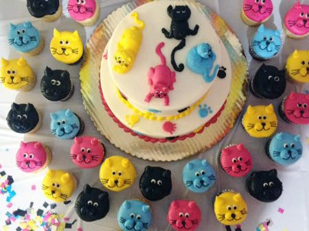 crazy cat lady birthday cake cats all over Happy belated