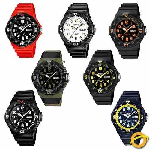 1fd80e6c9132 Reloj Casio Mrw-200h Analogico Sumergible Fecha Y Dia Wr100
