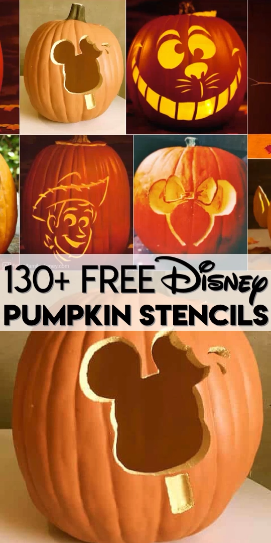 130+ FREE Disney pumpkin stencils and pumpkin carving patterns for Halloween! Get Star Wars pumpkin stencils, princess pumpkin carving patterns, Disney・Pixar pumpkin templates and more! All for FREE and all printable, ready to download to make your own Disney pumpkin! #Disneycrafts #DisneyHalloween #Halloween #pumpkincarving