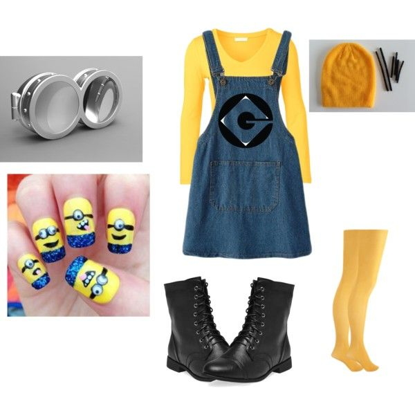 Minion Halloween costume #2 by lydia129 on Polyvore featuring Forever 21 and Wet Seal