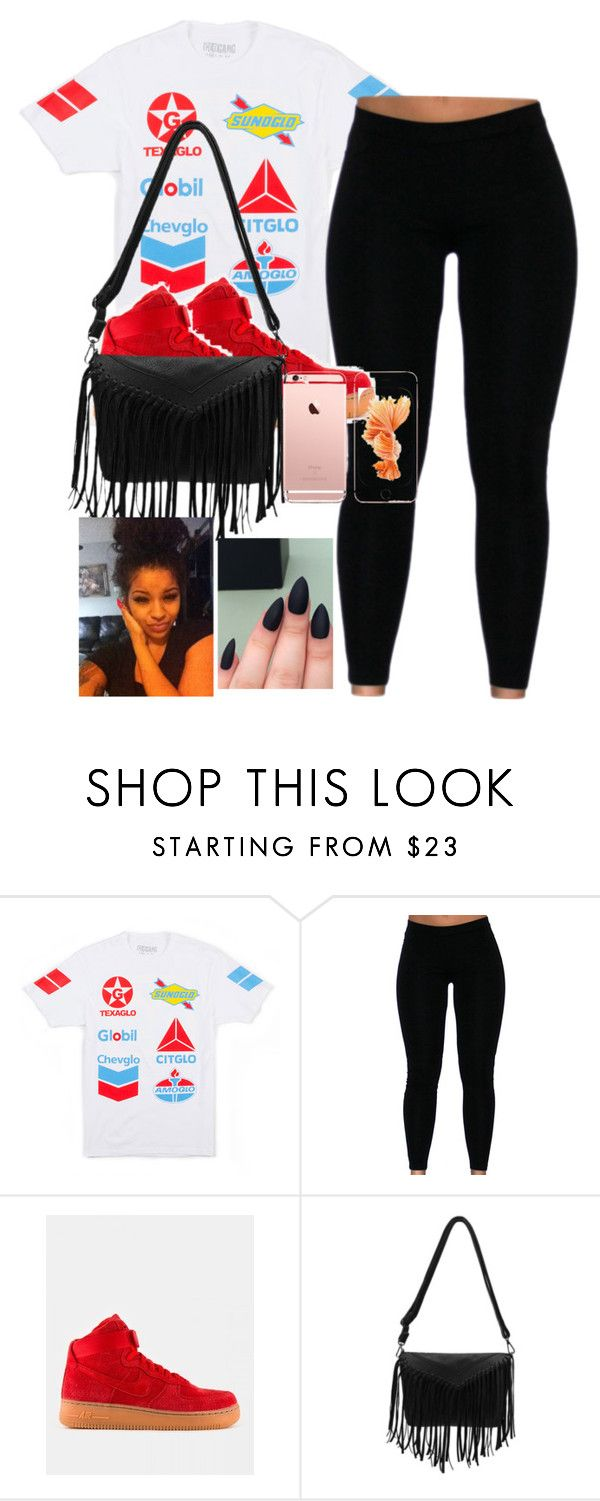 """""""Turn up☝"""" by aleafm0ffical ❤ liked on Polyvore featuring GAS Jeans, NIKE, women's clothing, women, female, woman, misses and juniors"""