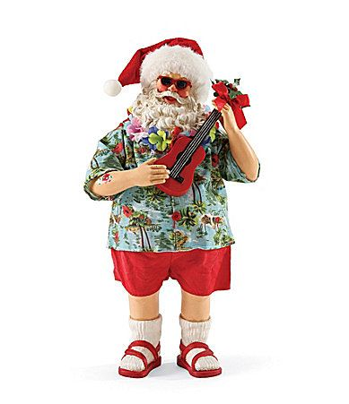 Possible Dreams Uku Lei Le Dillards Com Santa Claus Doll Miniature Santa Claus Santa