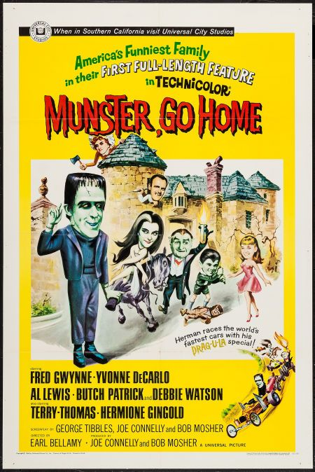 Munster Go Home Universal 1966 One Sheet 27 The Munsters Movie Posters Movie Posters Vintage