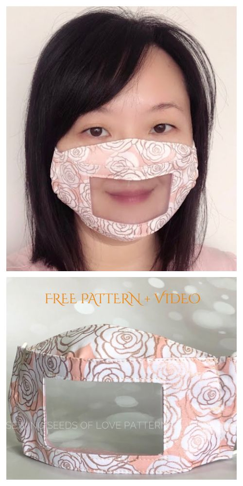 Photo of DIY Clear Window Face Mask Free Sewing Patterns + Video | Fabric Art DIY