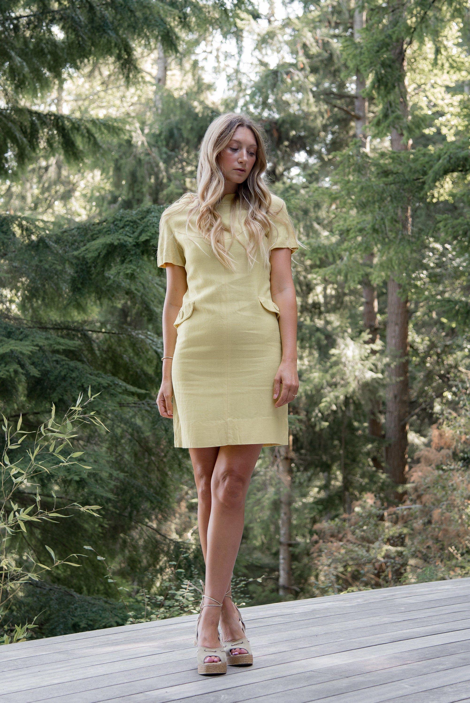 60s Mod mini dress 60s summer dress Babydoll dress. Mod 60s peach dress Tangerine mini dress 1960s linen dress