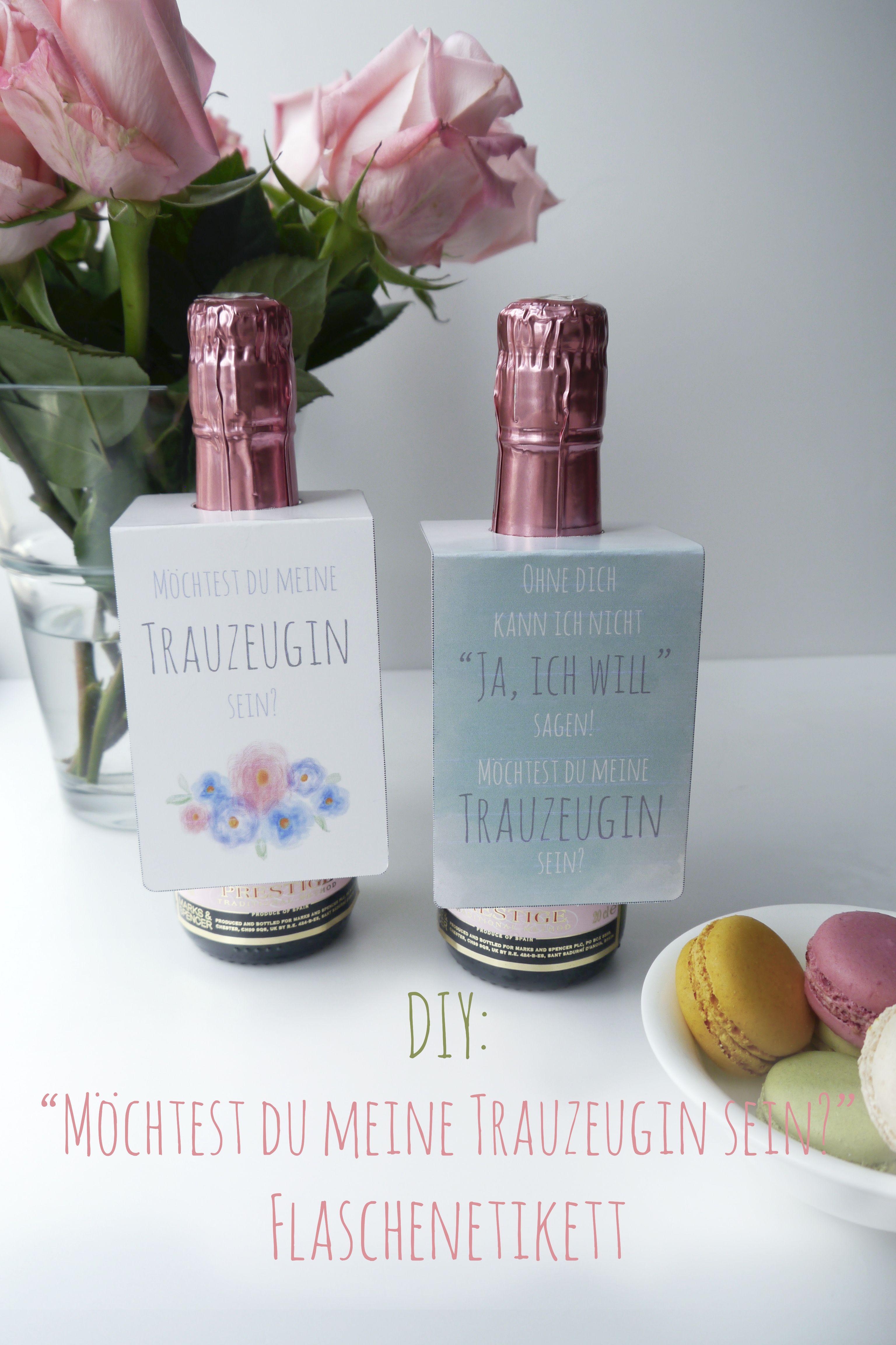 Freebie diy willst du meine trauzeugin sein fräulein herzrasen flaschenetikett hochzeit