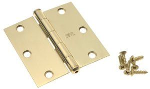 Stanley Hardware Solid Brass 3 1 2 Inch Square Corner Residential Door Hinge Bright Brass 800100 By Stanley 13 95 Amazon Com Solid Brass Hardware Hinges