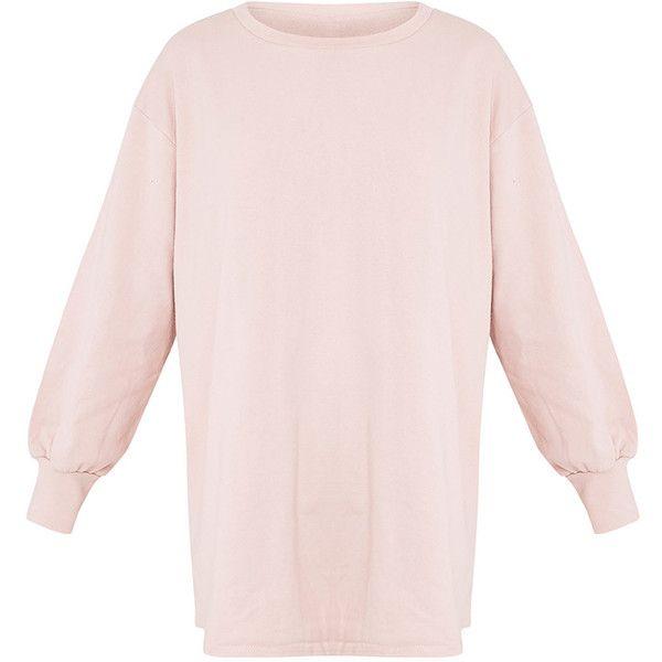 2fb3d82da38 Sianna Dark Mauve Oversized Sweater Dress ( 40) ❤ liked on Polyvore  featuring dresses
