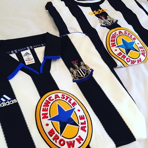 41d75d9637d 2 vintage Adidas Newcastle brown ales sponsored Newcastle home shirts from  the 90s...link to our store is in our bio ☝  nufc  newcastleunited ...