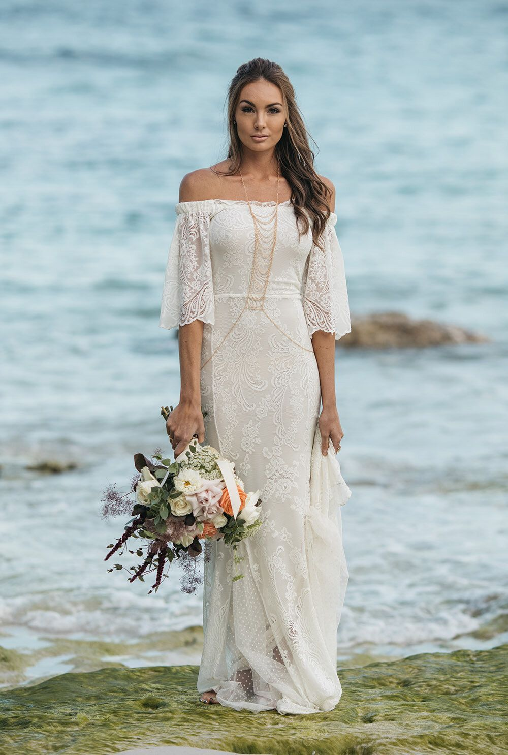 Youuve got the love lace wedding dress by whitemeadowbridal on etsy