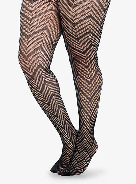 Chevron Fishnet Tights