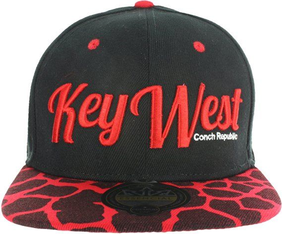 KEY WEST ANIMAL PRINT GIRAFFE SNAPBACK BASEBALL CAP - BLACK AND YELLOW at  Amazon… fe5c8cf2b1c3